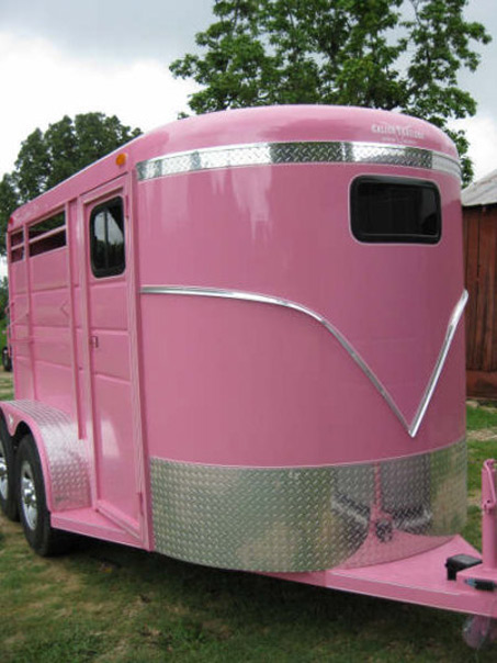Show Horse Gallery - Calico Brand True Love Pink Trailer