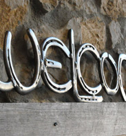 Horse Shoe Welcome Sign