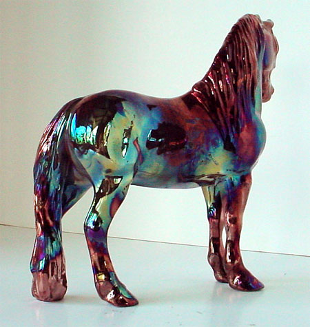 Show Horse Gallery - Art of Fire Fine Art Raku Horse Sculpture by Lakeshore Collection