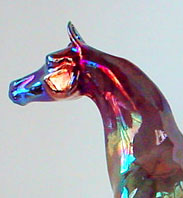 Art of Fire Fine Art Raku Horse Sculpture by Lakeshore Collection