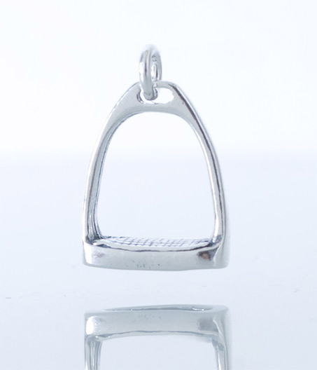 Show Horse Gallery - Little Stirrup Silver Pendant